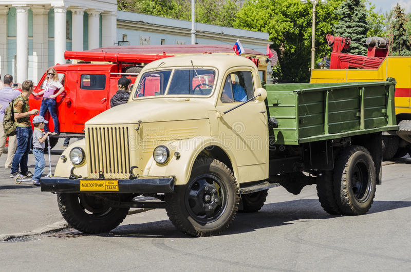 Download Rare Soviet Russian Cargo Truck Brand GAZ Editorial Image - Image: 36082645