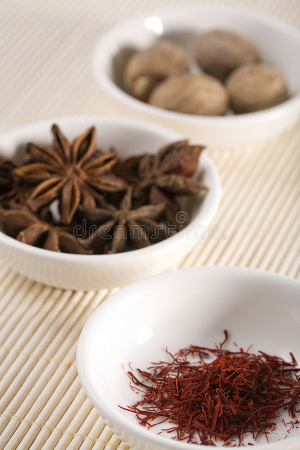 Download Rare spices in bowls 2 stock photo. Image of nature, nutmeg - 4993308