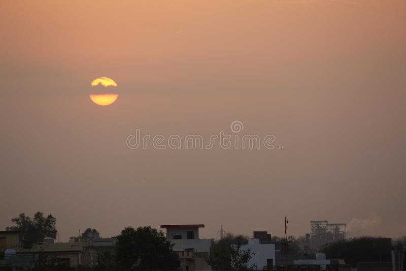Rare Sunset royalty free stock photography