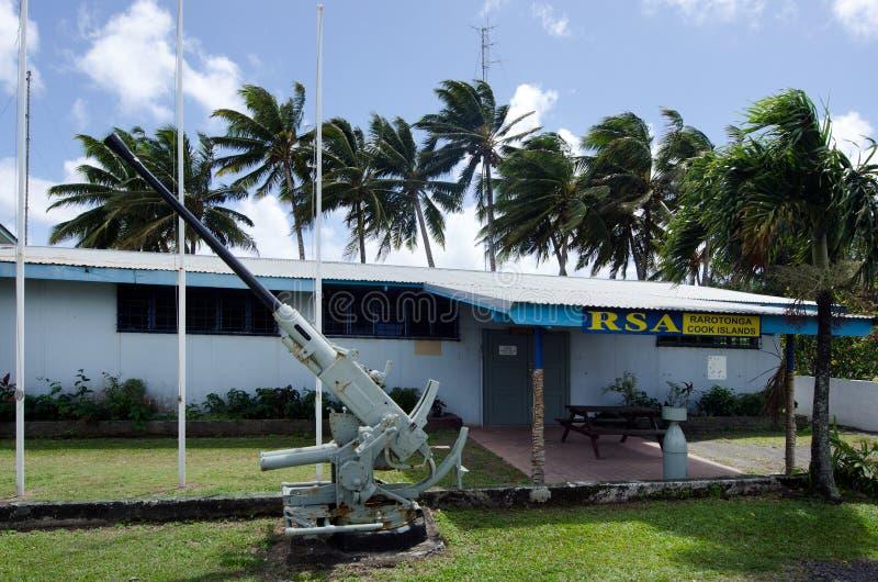 Rarotonga RSA klub w Rarotonga Kucbarskich wyspach zdjęcie stock