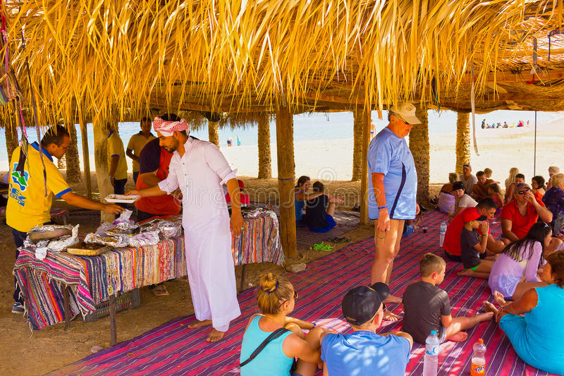 Ras穆罕默德,埃及- 2017年4月10日:Ras穆罕默德国家公园的流浪者埃及的 库存图片