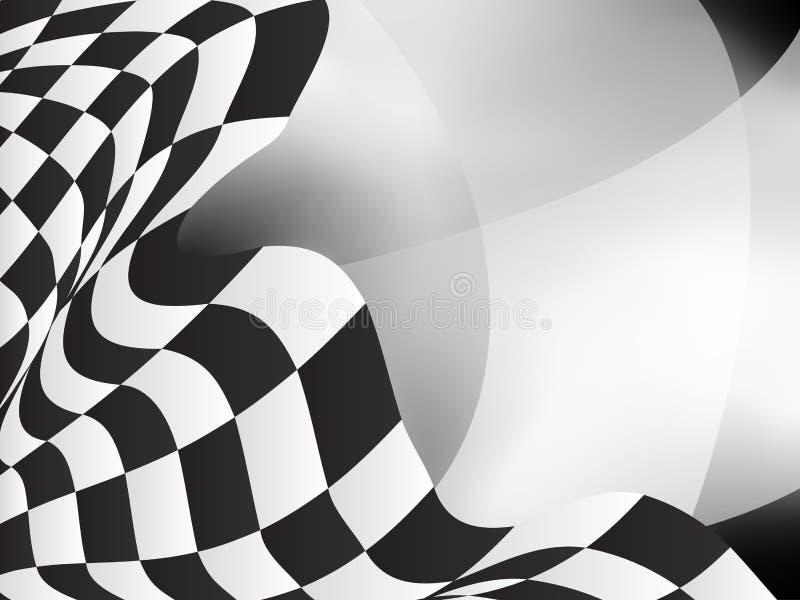 Ras achtergrond geruit vlag vectorontwerp royalty-vrije illustratie
