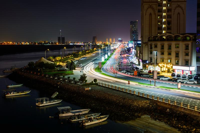 Ras Al Khaimah, Emirats Arabes Unis - 3 mars 2018 : Ras Al Kha photographie stock