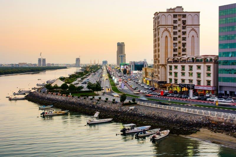 Ras Al Khaimah Förenade Arabemiraten - mars 3, 2018: Ras Al Kha arkivfoton