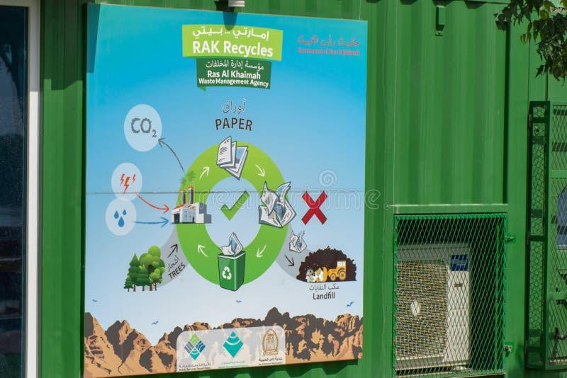 Ras al Khaimah RAK réutilise le centre d'éducation sur Corniche images stock