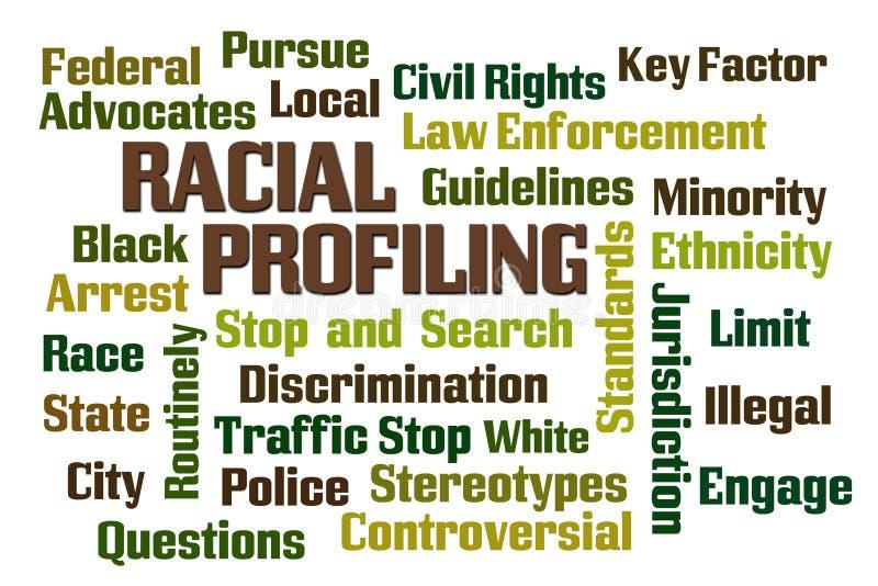 Ras- profilera stock illustrationer