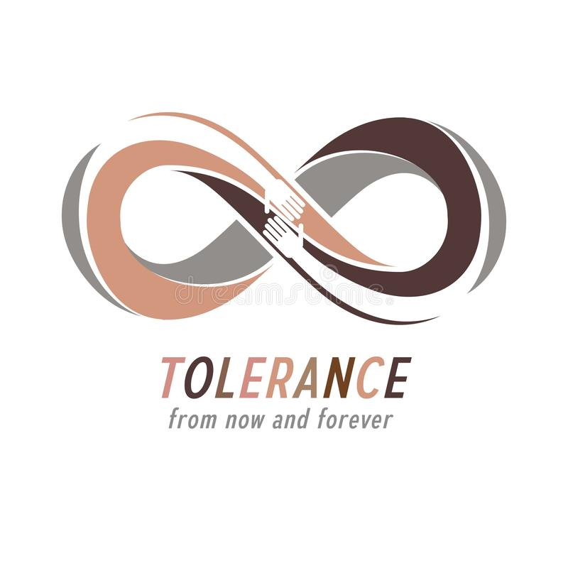 Ras- tolerans mellan det begreppsmässiga symbolet för olika nationer, mor vektor illustrationer