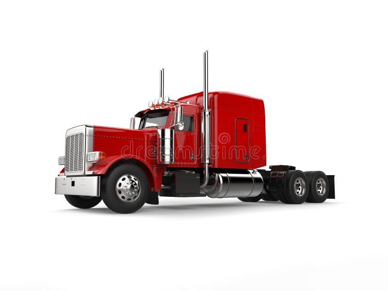 Rasa den stora lastbilen för röd person som drar en skottkärra för klassiker 18 - skönhetskott stock illustrationer