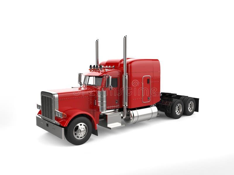 Rasa den stora lastbilen för röd person som drar en skottkärra för klassiker 18 - studiobelysningskott vektor illustrationer