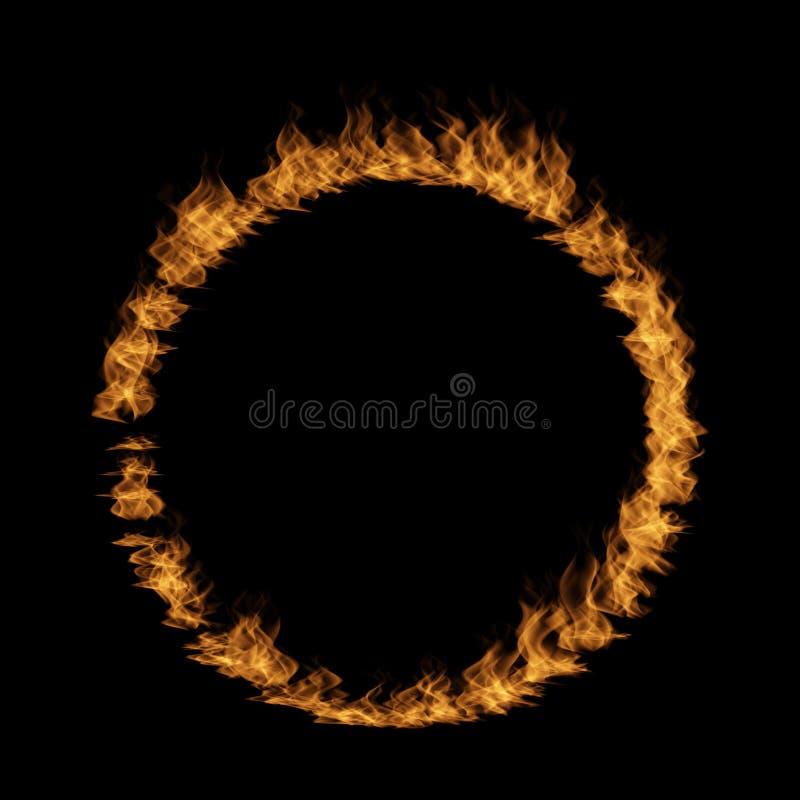 Rasa eldsvåda av brand, form n för flamma för cirkelrundacirkel stock illustrationer