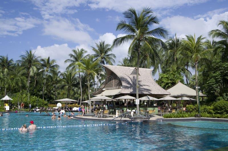 Rasa Sentosa Resort & Spa. Has a beautiful outdoor pool stock image