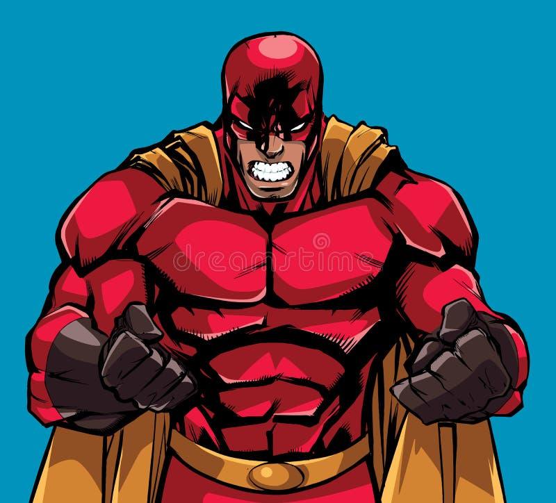 Rasa Superheroillustrationen stock illustrationer