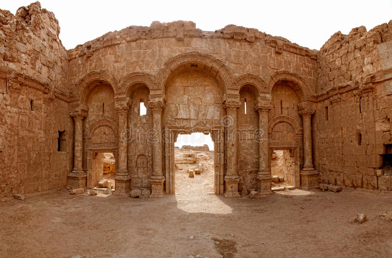 rasafa syria arkivbilder