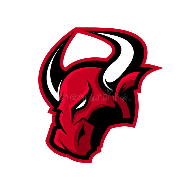 Rasande begrepp för logo för tjursportvektor som isoleras på vit bakgrund vektor illustrationer
