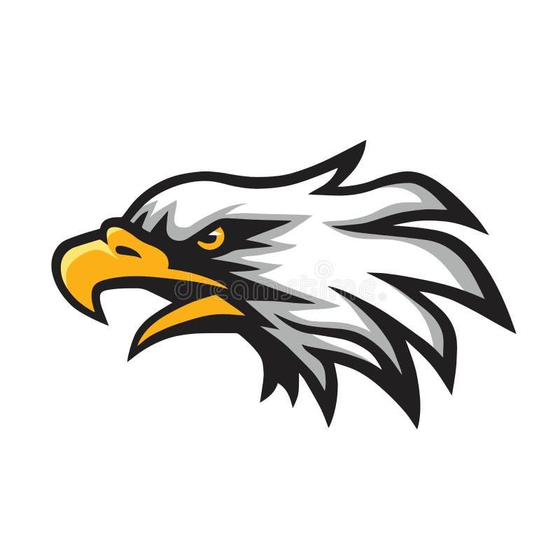 Rasande Eagle Head Logo Mascot Vector stock illustrationer