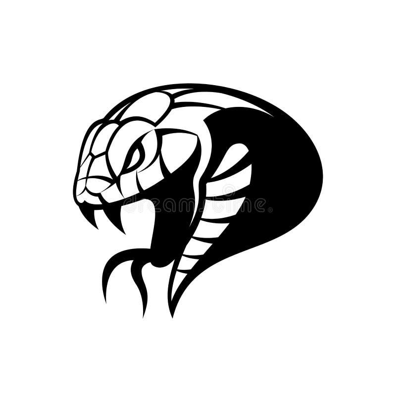 Rasande för sportvektor för grön orm som begrepp för logo isoleras på vit bakgrund vektor illustrationer