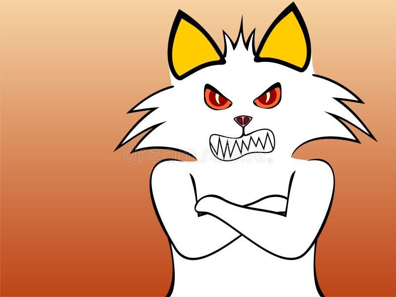 rasande katt vektor illustrationer