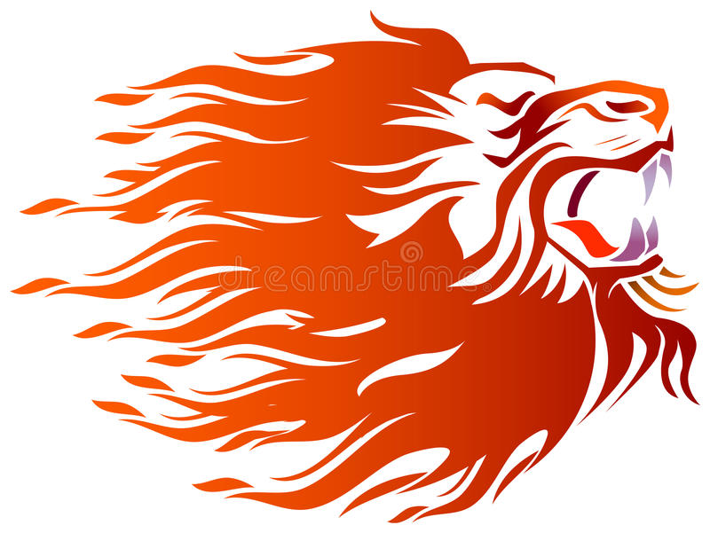 Rasande till lejonet royaltyfri illustrationer