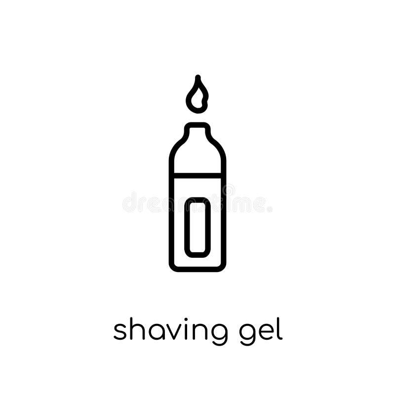 rasatura dell'icona del gel dalla raccolta di igiene illustrazione vettoriale