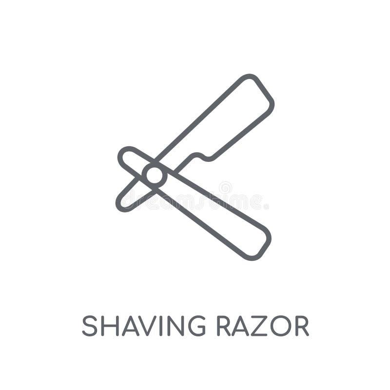 rasatura dell'icona lineare del rasoio Profilo moderno che rade raggiro di logo del rasoio illustrazione vettoriale