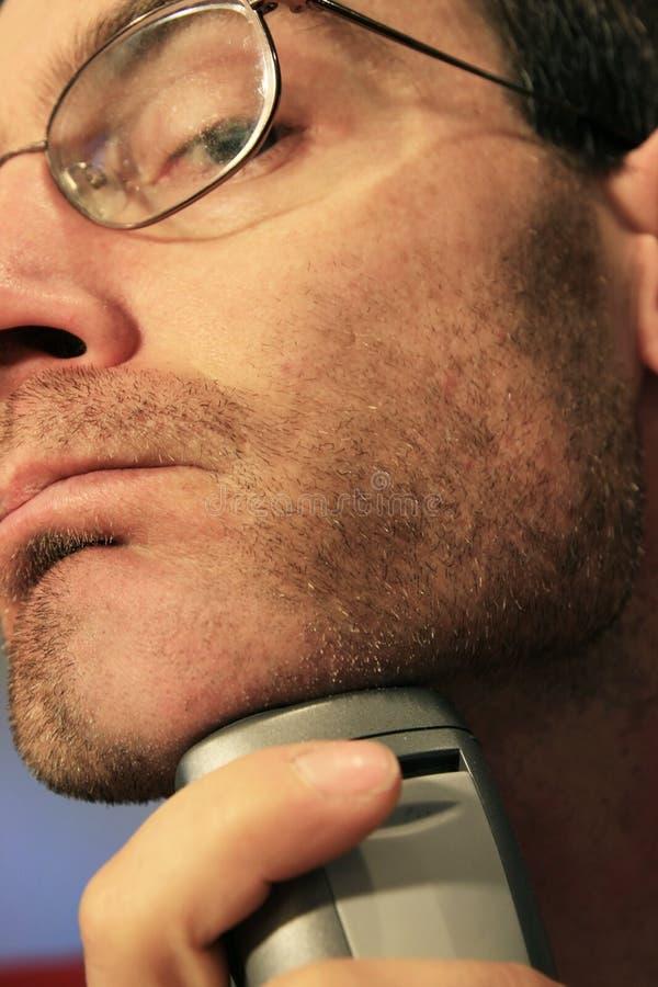 rasatura dell'uomo fotografia stock libera da diritti