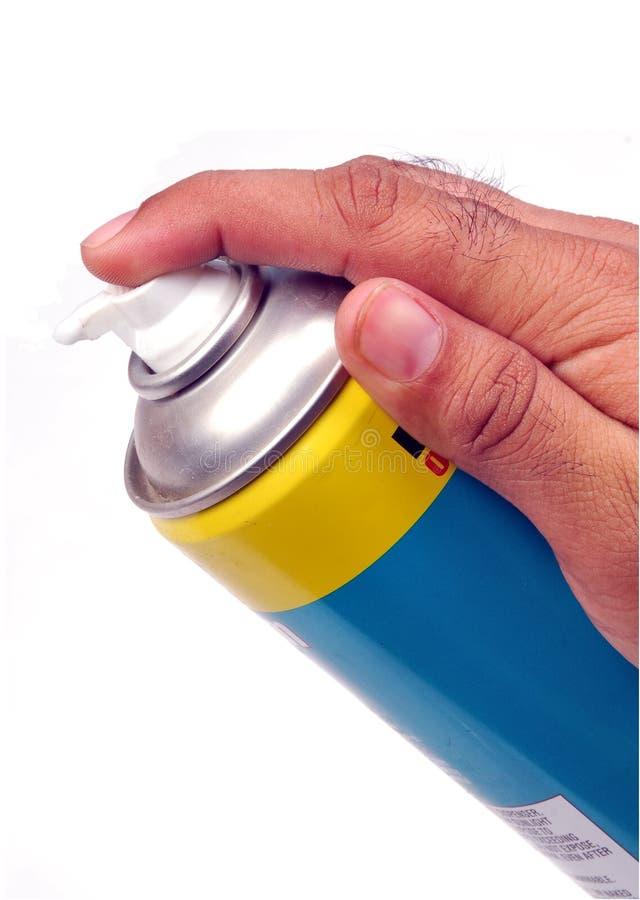 Rasatura della latta della gomma piuma fotografie stock