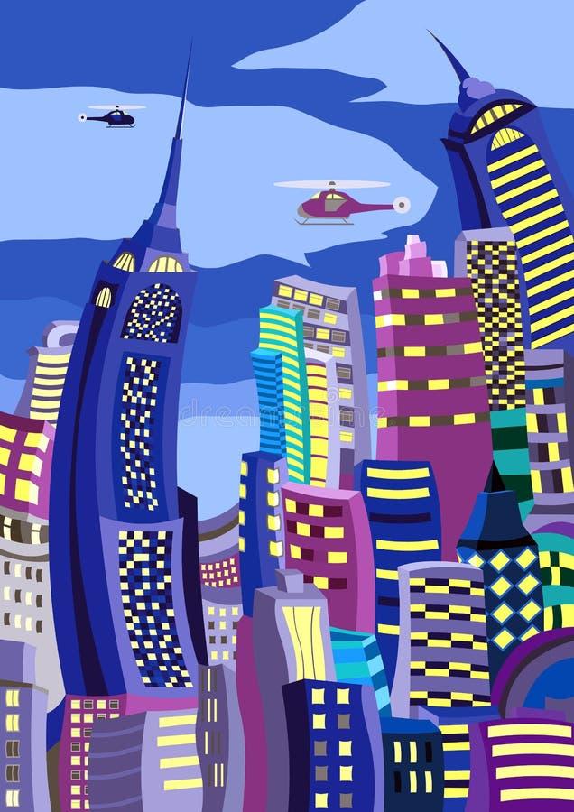 Rascacielos ilustración del vector