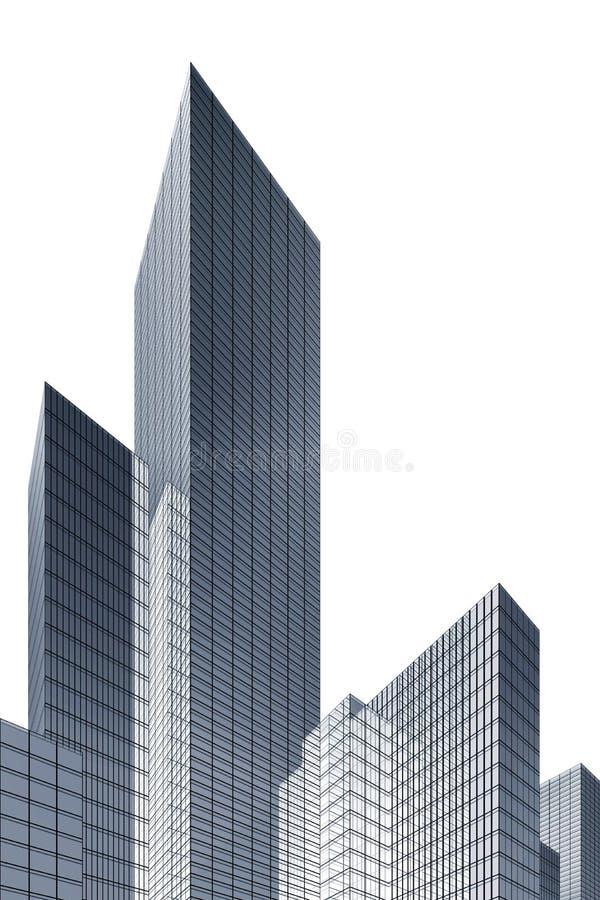 rascacielos abstractos 3d libre illustration