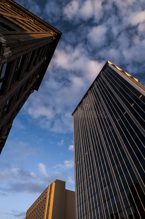 Rascacielos céntricos - Dayton, Ohio foto de archivo libre de regalías