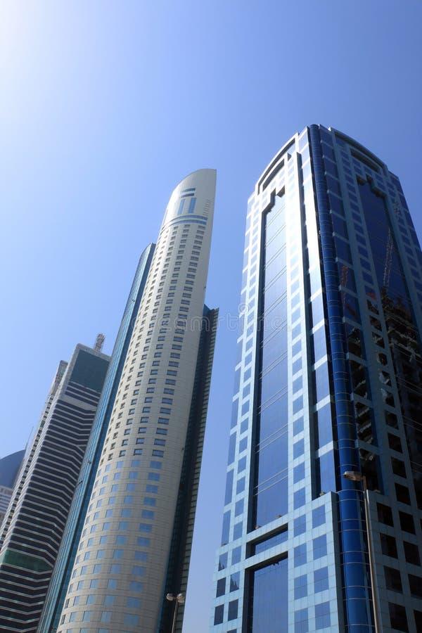 Rascacielos de Dubai, United Arab Emirates foto de archivo libre de regalías