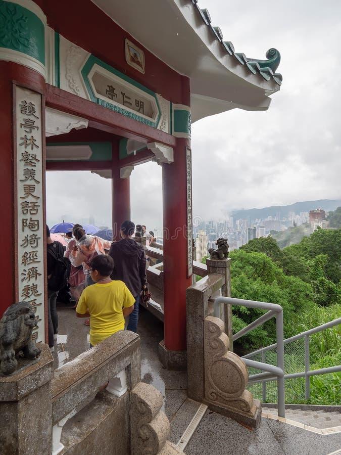 Rascacielos de Hong Kong vistos de Victoria Peak imagen de archivo