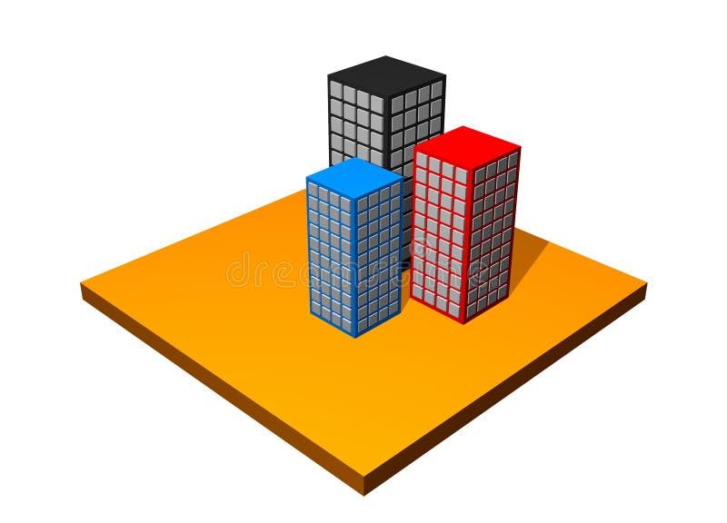 Rascacielos de la ciudad libre illustration