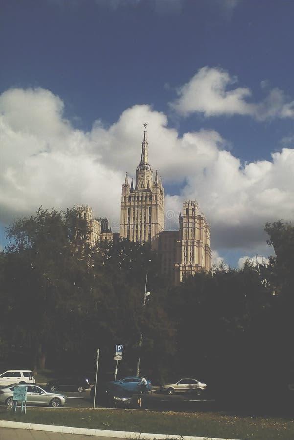Rascacielos de Stalin imagenes de archivo