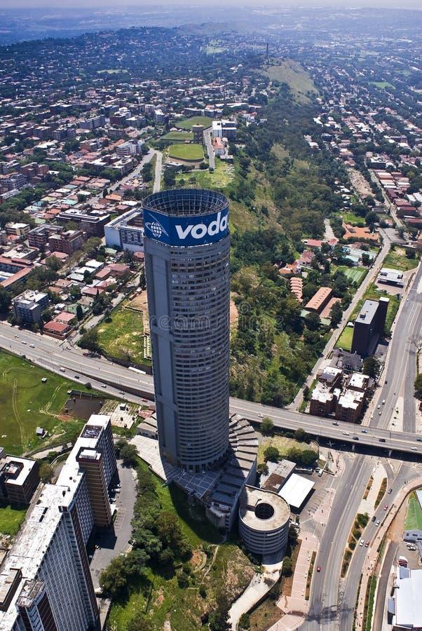 Rascacielos de Vodacom Ponte foto de archivo libre de regalías