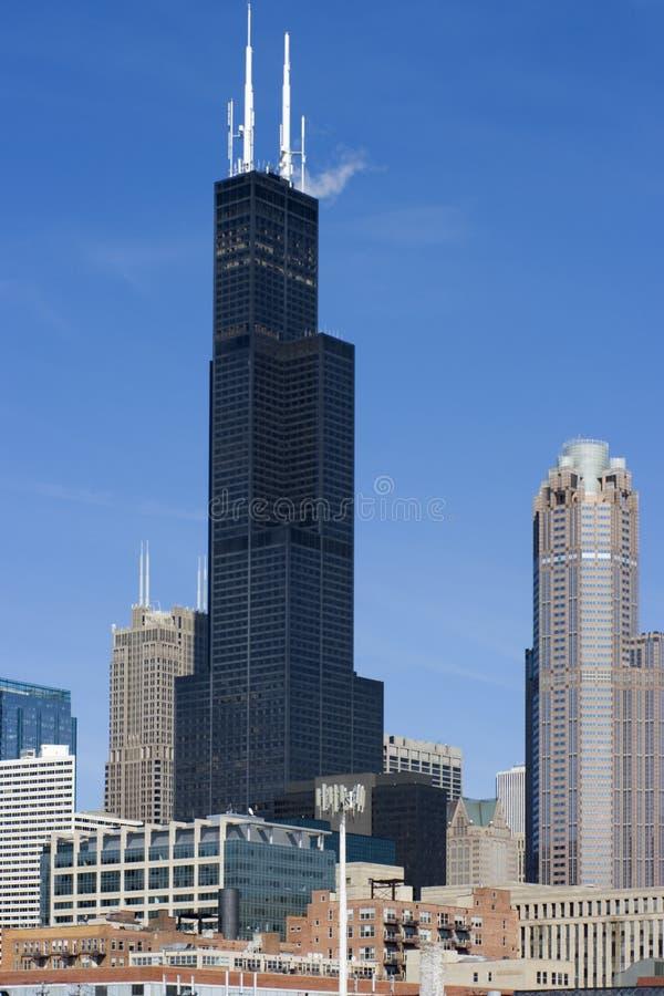 Rascacielos en Chicago foto de archivo libre de regalías