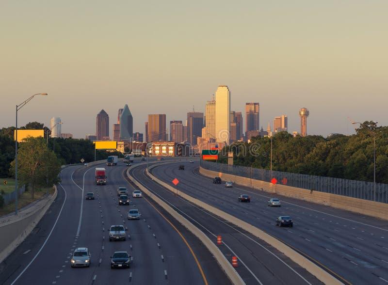 Rascacielos en Dallas céntrica Tejas, los E.E.U.U. imagen de archivo