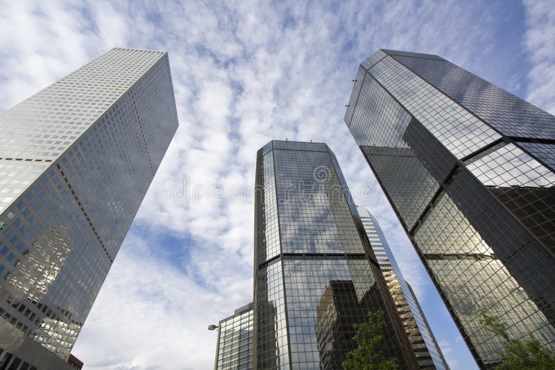 Rascacielos en Denver fotos de archivo libres de regalías
