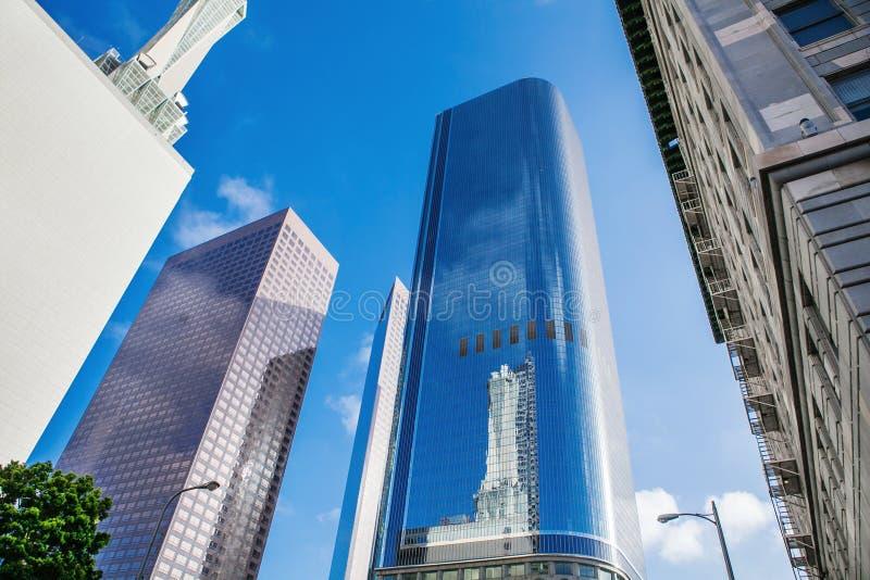 Rascacielos en el LA céntrico, Los Ángeles imagen de archivo libre de regalías