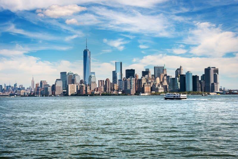 Rascacielos en el Lower Manhattan, New York City foto de archivo libre de regalías