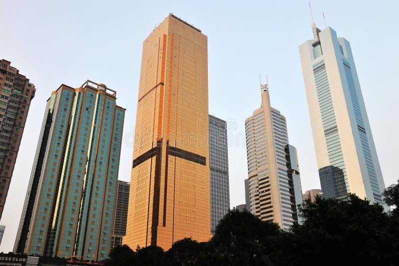 Rascacielos en guangzhou imagenes de archivo