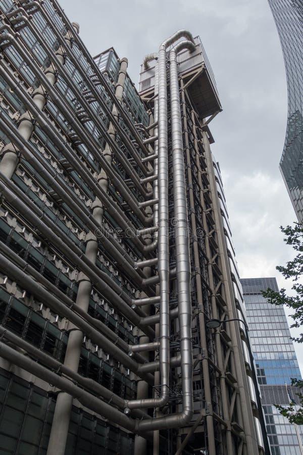Rascacielos en la ciudad del La, distrito financiero de Londres Inglaterra y el Reino Unido En junio de 2015 imágenes de archivo libres de regalías