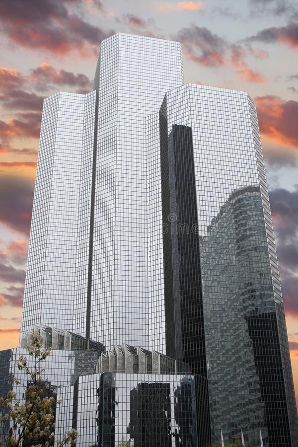 Rascacielos en la defensa del La, París fotografía de archivo libre de regalías