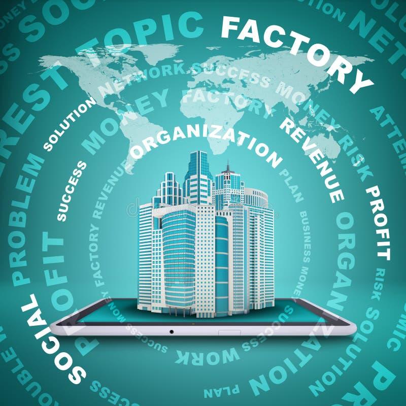Download Rascacielos En La PC De La Tableta De La Pantalla Stock de ilustración - Ilustración de rédito, círculo: 42425626