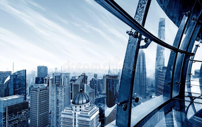 Rascacielos en Shangai, China imágenes de archivo libres de regalías
