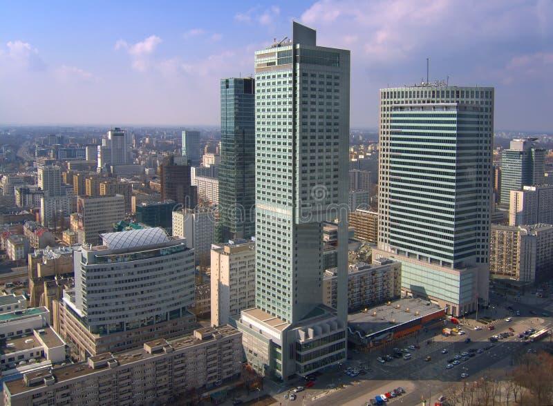 Rascacielos en Varsovia imagen de archivo libre de regalías