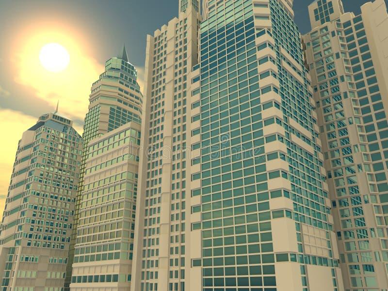 Rascacielos. Fondo ilustración del vector