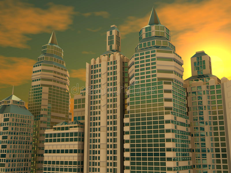 Rascacielos. Fondo libre illustration