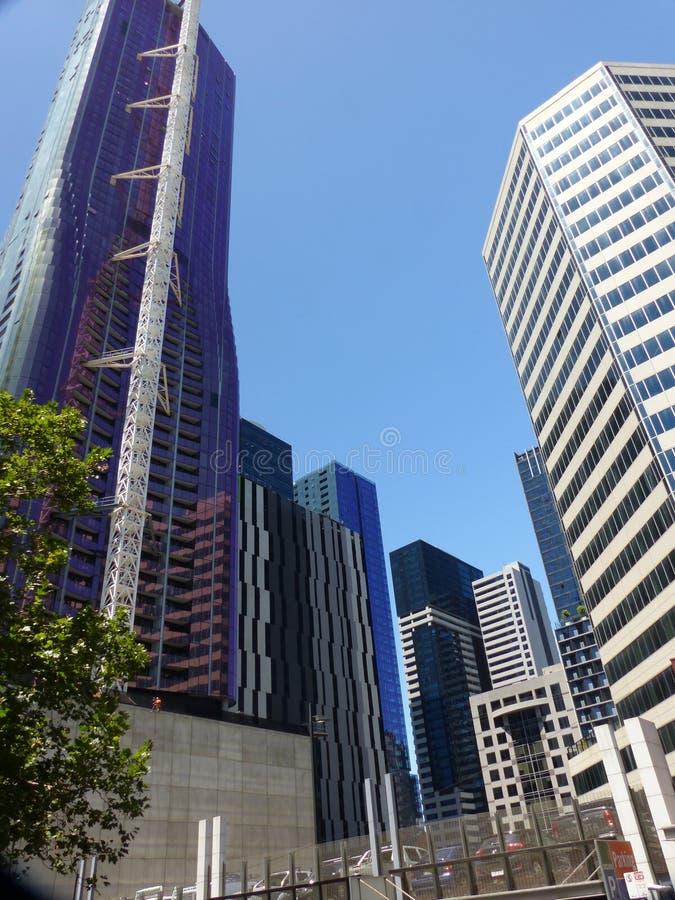 Rascacielos impresionantes en Melbourne, Australia imagenes de archivo