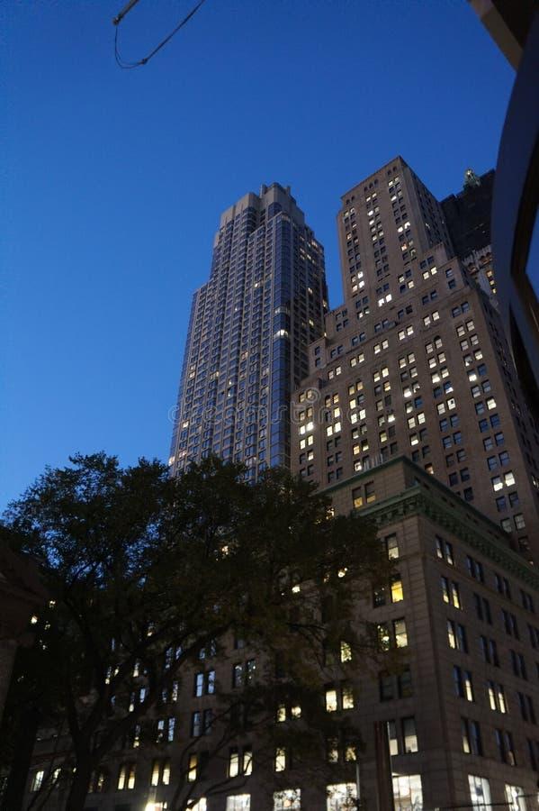 Rascacielos - Lower Manhattan, New York City fotografía de archivo libre de regalías