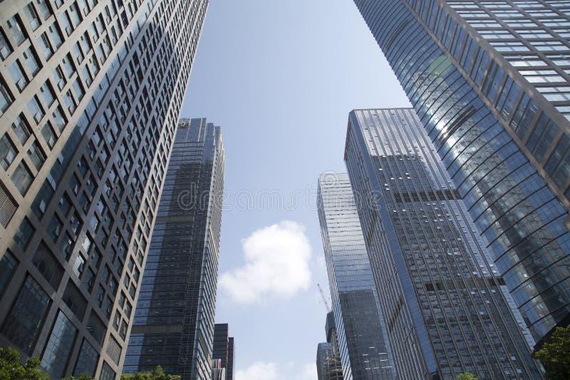 Rascacielos modernos en la ciudad Shenzhen China Asia fotos de archivo libres de regalías